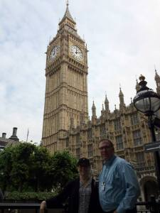 Ron and I at Big Ben outside the Parliament