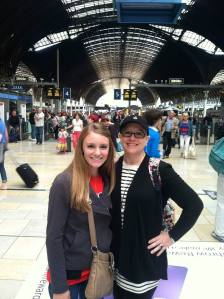 My friend and I in Paddington Station