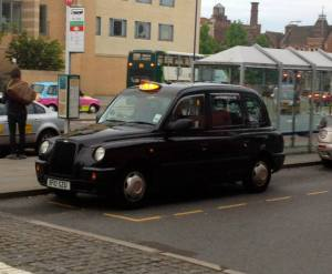 One of the cool English Taxis.